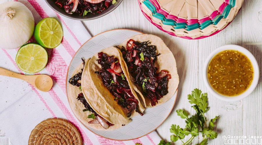 Hibiscus Flower Tacos